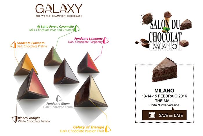 """Martesana Milano con Davide Comaschi al """"Salon du Chocolat"""" per presentare la nuova linea di Galaxy"""