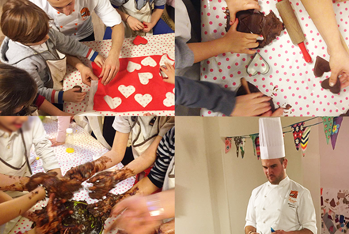Alessandro Comaschi cooks with children: Kikolle Lab