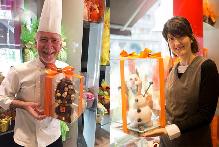 Pasqua: uova di cioccolato e decorate