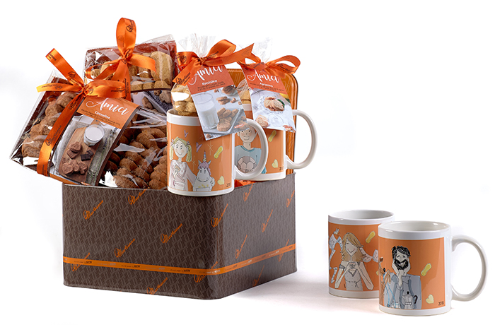 Discover the special pack of Amici cookies and mugs